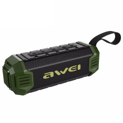 Awei, Y280 portable drop proof IPX7 waterproof bluetooth speaker with Power Bank (green),green,y280-grn image here