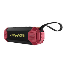 Awei, Y280 portable drop proof IPX7 waterproof bluetooth speaker with Power Bank (red),red,Y280-RD image here