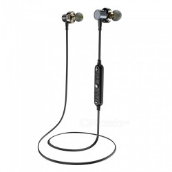 Awei, X660BL Bluetooth Headphones Earphone Dual Driver Wireless Headset with Mic, black, x660bl-blk image here