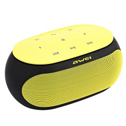 AWEI Y200 BLUETOOTH SPEAKER WIRELESS PORTABLE SPEAKERS SUPPORT TF AUX INPUT (YELLOW) image here