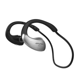 AWEI A885BL NFC HIFI WATERPROOF WIRELESS BLUETOOTH HEADSET (GRAY) image here