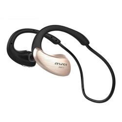 AWEI A885BL NFC HIFI WATERPROOF WIRELESS BLUETOOTH HEADSET (GOLD) image here