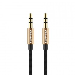 AWEI AUX-001 3.5MM AUDIO AUX CABLE 1M (GOLD) image here