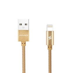 AWEI CL-300 1M 8PIN LIGHTNING CABLE FOR APPLE IPHONE (GOLD) image here