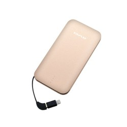 Awei P20K 8000mAh Quick Charge 3.0 Smart PowerBank - gold image here