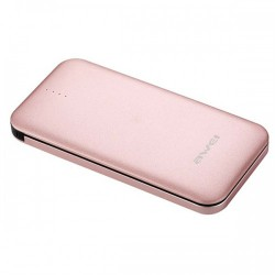 Awei P20K 8000mAh Quick Charge 3.0 Smart PowerBank - rose gold image here