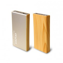 Awei P93k 10,000mAh Portable Polymer Power Bank with Type-C Interface - gold image here