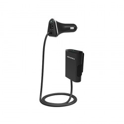 AWEI C-400 4 USB Ports Quick Car Charger with 1.8m Cable - black image here