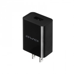 Awei C-600 Travel Charger 5V 2A USB Power Adapter - black image here