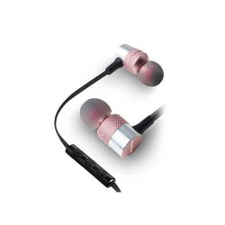 AWEI ES-20TY HiFi Music Wired Earphones with Microphone 3.5MM Plug - Rose Gold image here