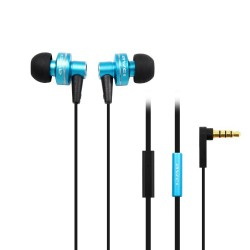 AWEI ES-900i Hi-Definition In-Ear Earphones with Mic - blue image here