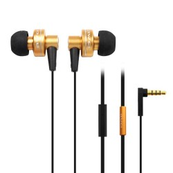 AWEI ES-900i Hi-Definition In-Ear Earphones with Mic - gold image here
