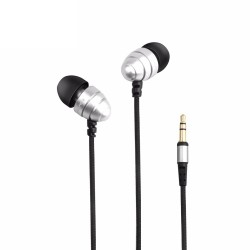 AWEI ES-Q2 3.5MM Plug Stereo Music Deep Bass In-ear Earphones - silver image here