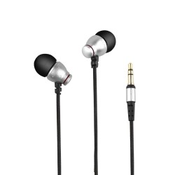 AWEI ES-Q6 3.5MM Plug Stereo Music Deep Bass In-ear Earphones - silver image here