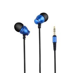 AWEI ES-Q6 3.5MM Plug Stereo Music Deep Bass In-ear Earphones - blue image here
