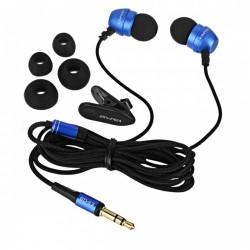AWEI ES Q8 Super Deep Nylon Wired Earphone In-ear Metal Head Earphones - blue image here