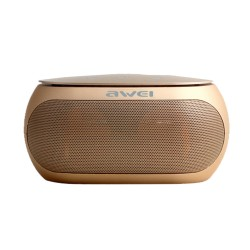 AWEI Y200 BLUETOOTH SPEAKER WIRELESS PORTABLE SPEAKERS SUPPORT TF AUX INPUT - gold image here
