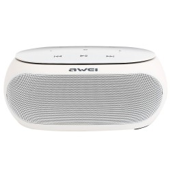 AWEI Y200 BLUETOOTH SPEAKER WIRELESS PORTABLE SPEAKERS SUPPORT TF AUX INPUT - white image here