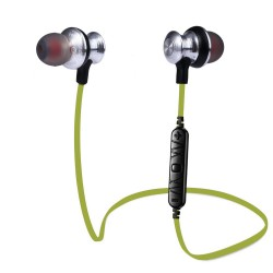 Awei, A980bl Bluetooth Earphones Headset Wireless Headphones With Microphone - green,green,awei-a980bl-g image here