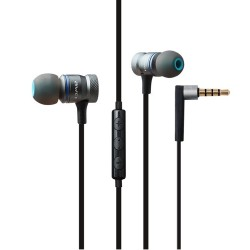 Awei ES-70TY 3.5mm Aux Audio In-Ear Earphone Metal Heavy Bass Sound Music Headset With Mic - Gray image here