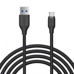 Aukey CB-AC2 Braided Nylon USB-A 3.1 to USB-C 2m image here