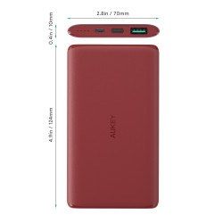 Aukey,5000mAh USB-C Power Bank,PB-XN5-RED image here