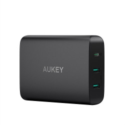 Aukey PA-Y12 3-Port USB Charging Station with 60W Power Delivery - Black image here