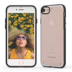 PUREGEAR SLIMSHELL CASE FOR IPHONE 7  CLEAR / BLACK,IPG7-SCB image here
