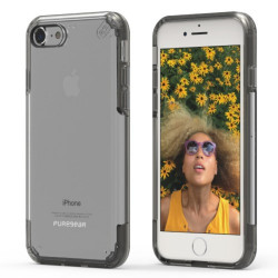 PUREGEAR SLIMSHELL PRO CASE FOR IPHONE 7  CLEAR / BLACK,IPG7-SPCBLK image here