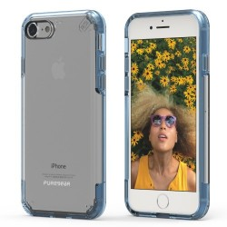 PUREGEAR SLIMSHELL PRO CASE FOR IPHONE 7 – CLEAR / BLUE image here