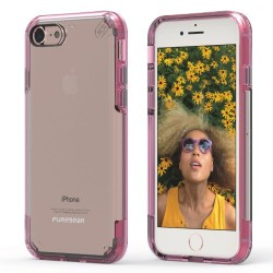 PUREGEAR SLIMSHELL PRO CASE FOR IPHONE 7 – CLEAR / PINK image here