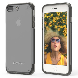 PUREGEAR SLIMSHELL PRO CASE FOR IPHONE 7 PLUS CLEAR / BLACK,IPG7P-SPCBLK image here
