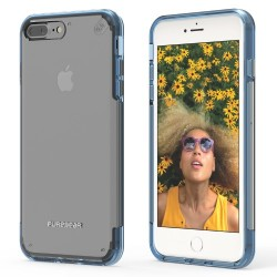 PUREGEAR SLIMSHELL PRO CASE FOR IPHONE 7 PLUS – CLEAR / BLUE image here