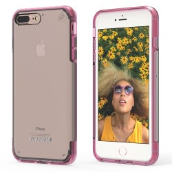 PUREGEAR SLIMSHELL PRO CASE FOR IPHONE 7 PLUS – CLEAR / PINK image here