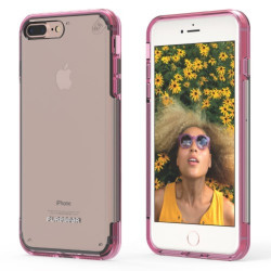PUREGEAR SLIMSHELL PRO CASE FOR IPHONE 7 PLUS CLEAR / PINK,IPG7P-SPCPNK image here