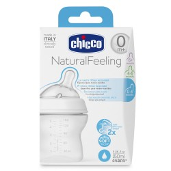 Chicco Natural Feeling Bottle 0M+150ml Regular Flow,7NBI-80711 image here