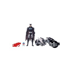 "Justice League 12"" Figure Batman And Transforming Batcycle image here"