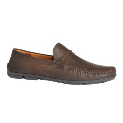 HUGO VENETIAN \ DARK BROWN LEATHER image here