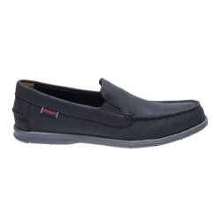 LITESIDES SLIP ON M \ BLACK LEATHER GRAY OUTSOLE image here