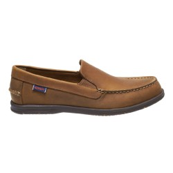LITESIDES SLIP ON M \ MED BROWN LEATHER BROWN OUTS image here
