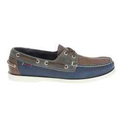 SPINNAKER M \ BROWN NAVY GRAY LEATHER image here