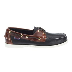 SPINNAKER M \ NAVY TEXTILE BROWN LEATHER image here