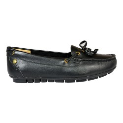 GRACE BOW \ BLACK LEATHER image here