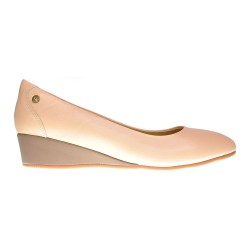 LUCILLE WEDGE \ NUDE LEATHER image here