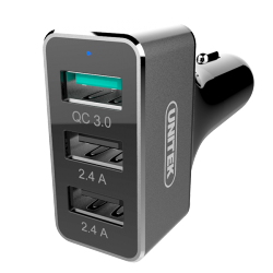 Unitek Y-P530C Smart Car Charger with QC 3.0 image here