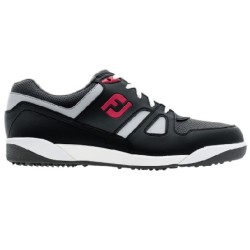 FJ SHOES GREENJOYS SPIKELESS - Black + Grey + Red image here