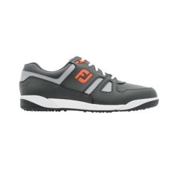 FJ SHOES GREENJOYS SPIKELESS - Charcoal + Grey + Orange          image here