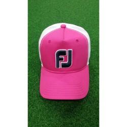 FJ,CAP MESH, Pink, FJHW1607 - Pink+white image here