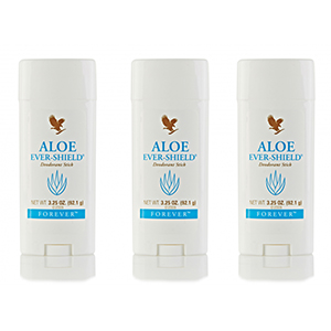 FOREVER LIVING ALOE EVER-SHIELD DEODORANT STICK SET OF  3 image here
