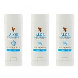 FOREVER LIVING ALOE EVER-SHIELD DEODORANT STICK SET OF 3,3X067 image here
